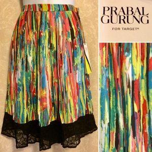 🎁⬇️$20 NWT Prabal Gurung Nolita Multi-Print Skirt